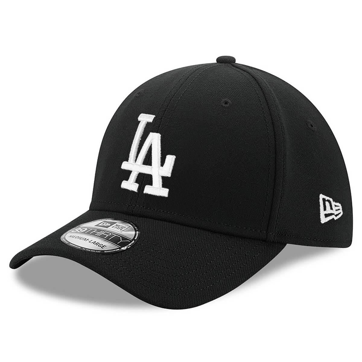 Boné New Era Aba Curva 3930 MLB Los Angeles Colors Preto