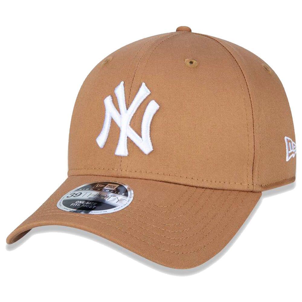 Boné New Era Aba Curva 3930 MLB NY Yankees Colors Marrom Claro