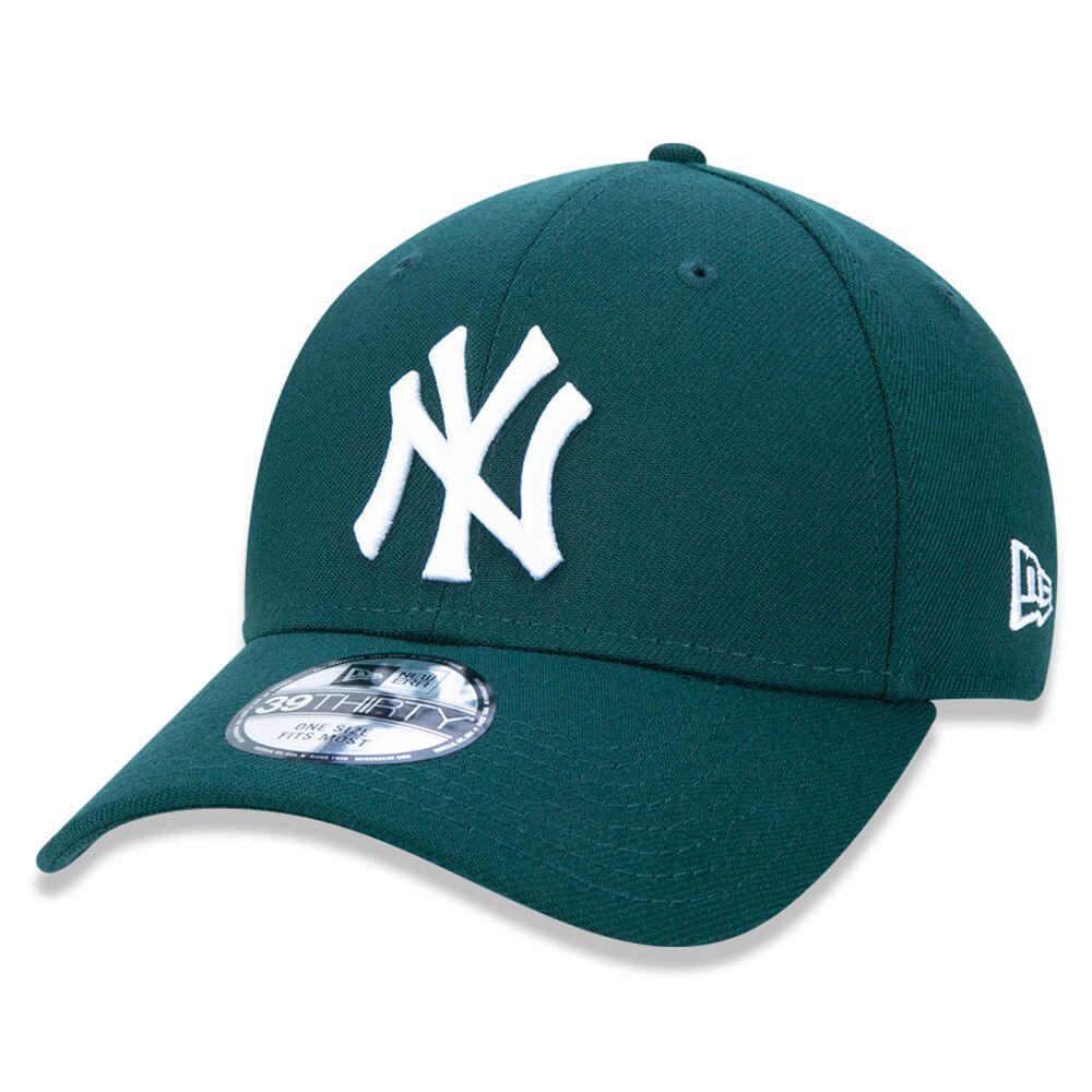Boné New Era Aba Curva 3930 MLB NY Yankees Colors Verde Escuro