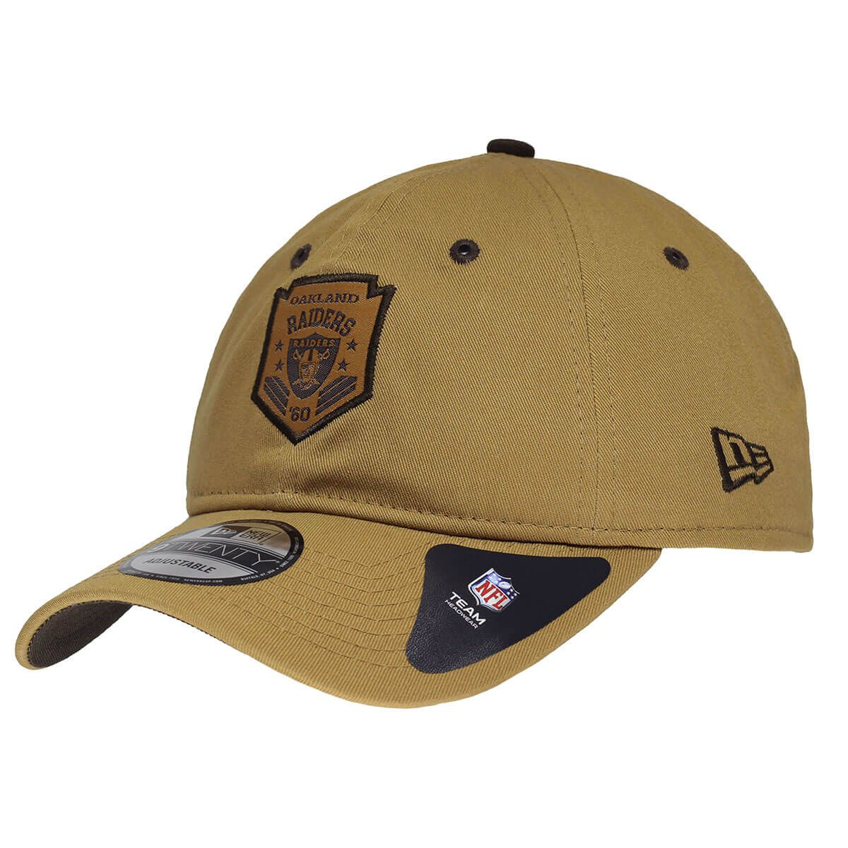 Boné New Era Aba Curva 920 SN NFL Raiders Brown