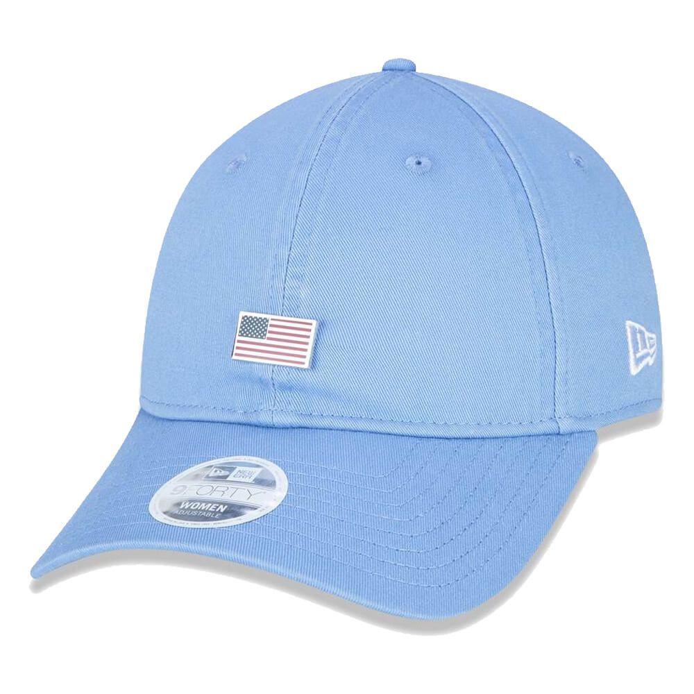 Boné New Era Aba Curva 920 ST Brand Flag Pingente EUA Azul