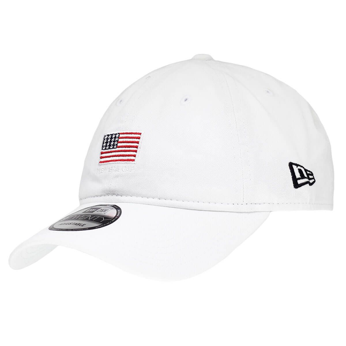 Boné New Era Aba Curva 920 ST Brand Mini Flag EUA Branco