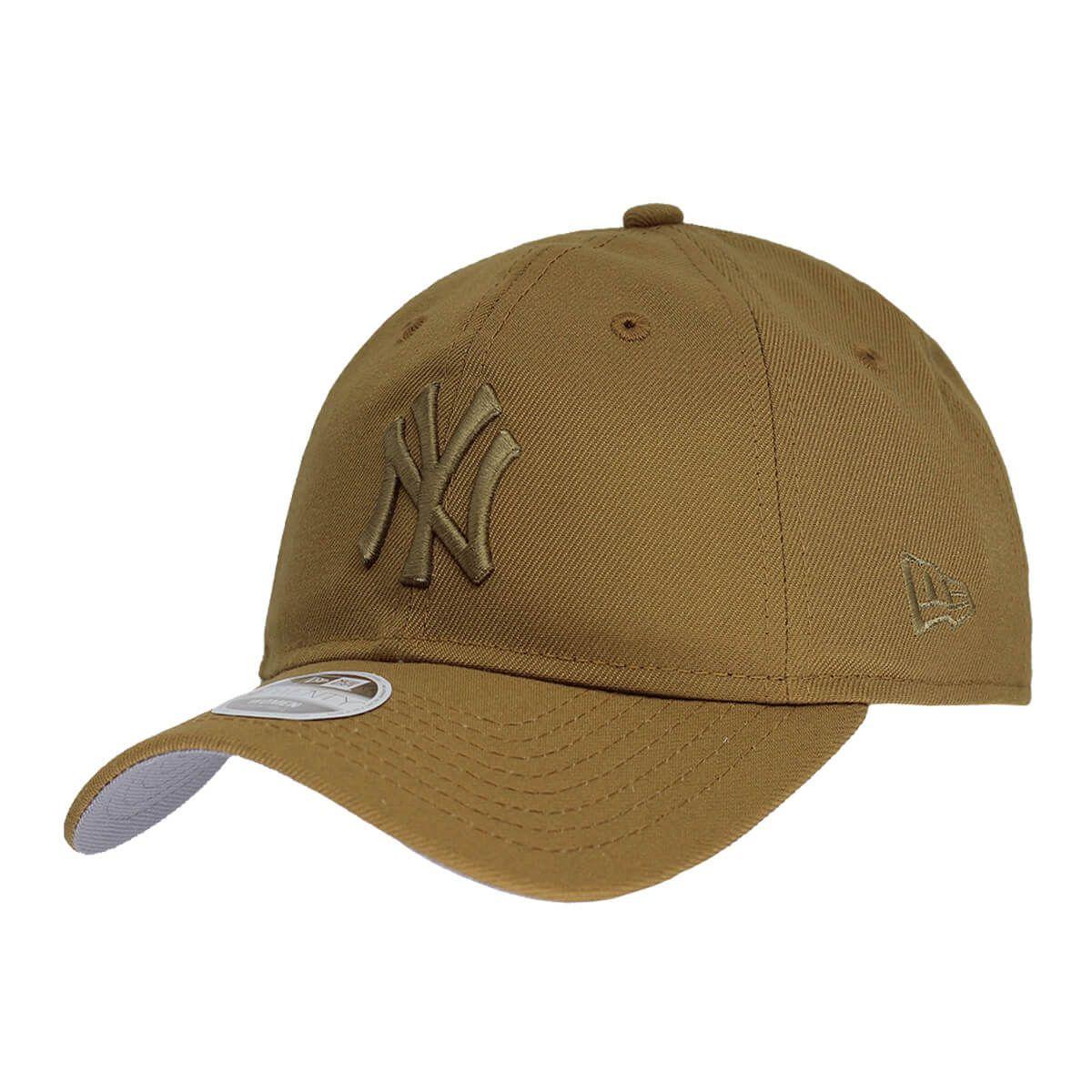 Boné New Era Aba Curva 920 ST MLB NY Yankees Tonal Marrom Claro