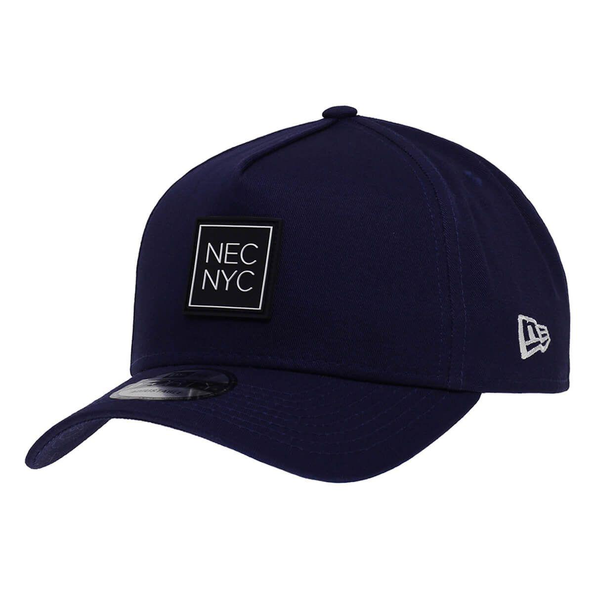 Boné New Era Aba Curva 940 SN Brand AF NEC NYC Rubber Azul Escuro