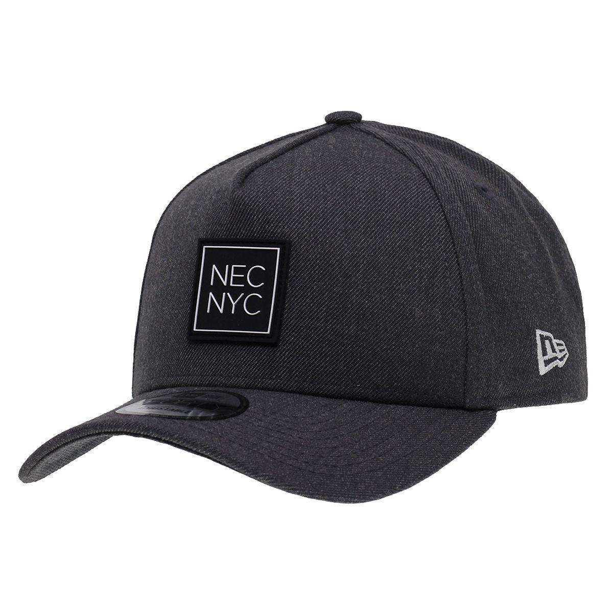 Boné New Era Aba Curva 940 SN Brand AF NEC NYC Rubber Cinza