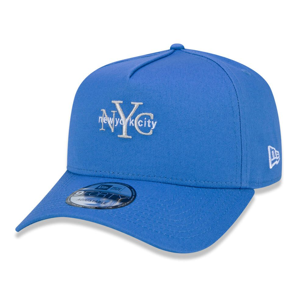 Boné New Era Aba Curva 940 SN Brand AF New York City Colors Azul Claro