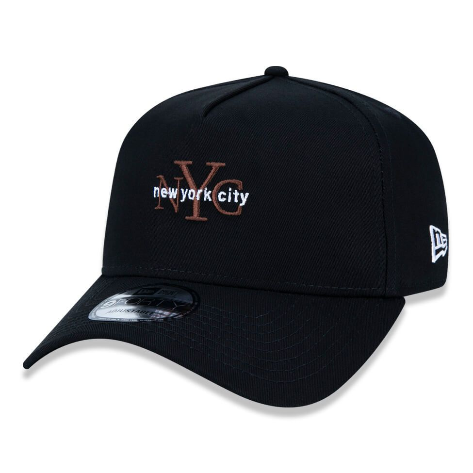 Boné New Era Aba Curva 940 SN Brand AF New York City Colors Preto