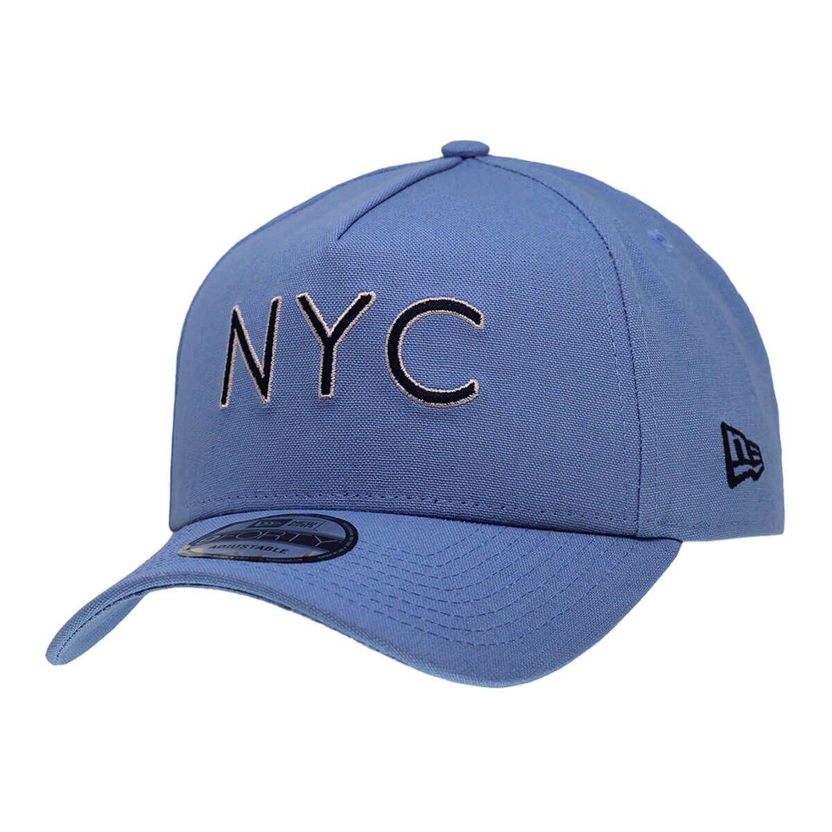 Boné New Era Aba Curva 940 SN Brand AF NYC Outline Azul Claro