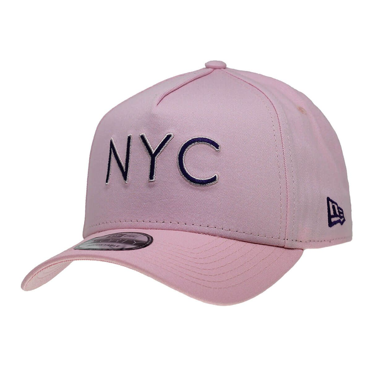 Boné New Era Aba Curva 940 SN Brand AF NYC Outline Rosa