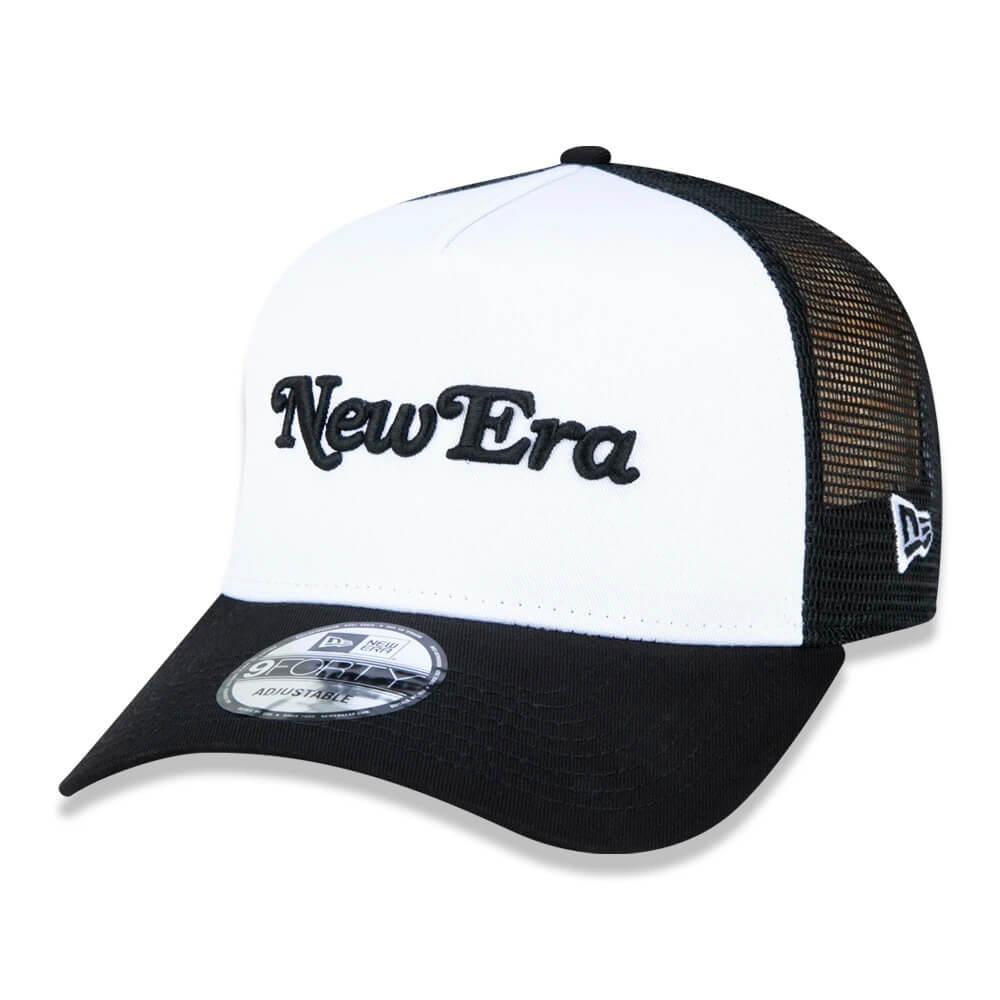Boné New Era Aba Curva 940 SN Brand Flag AF Trucker Script