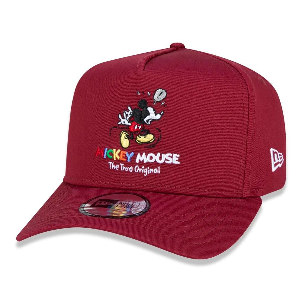 Boné New Era Aba Curva 940 SN Disney Mickey True Vinho