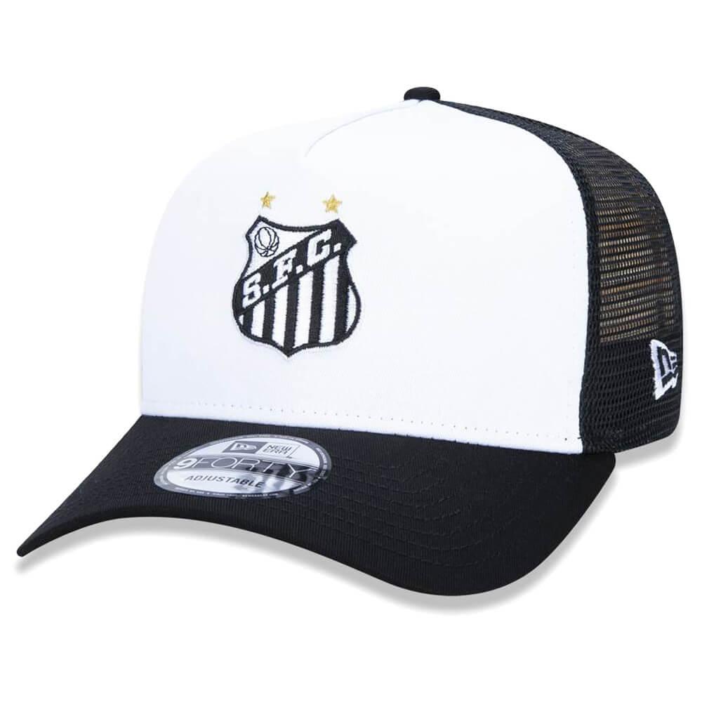 Boné New Era Aba Curva 940 SN Futebol Santos AF Trucker