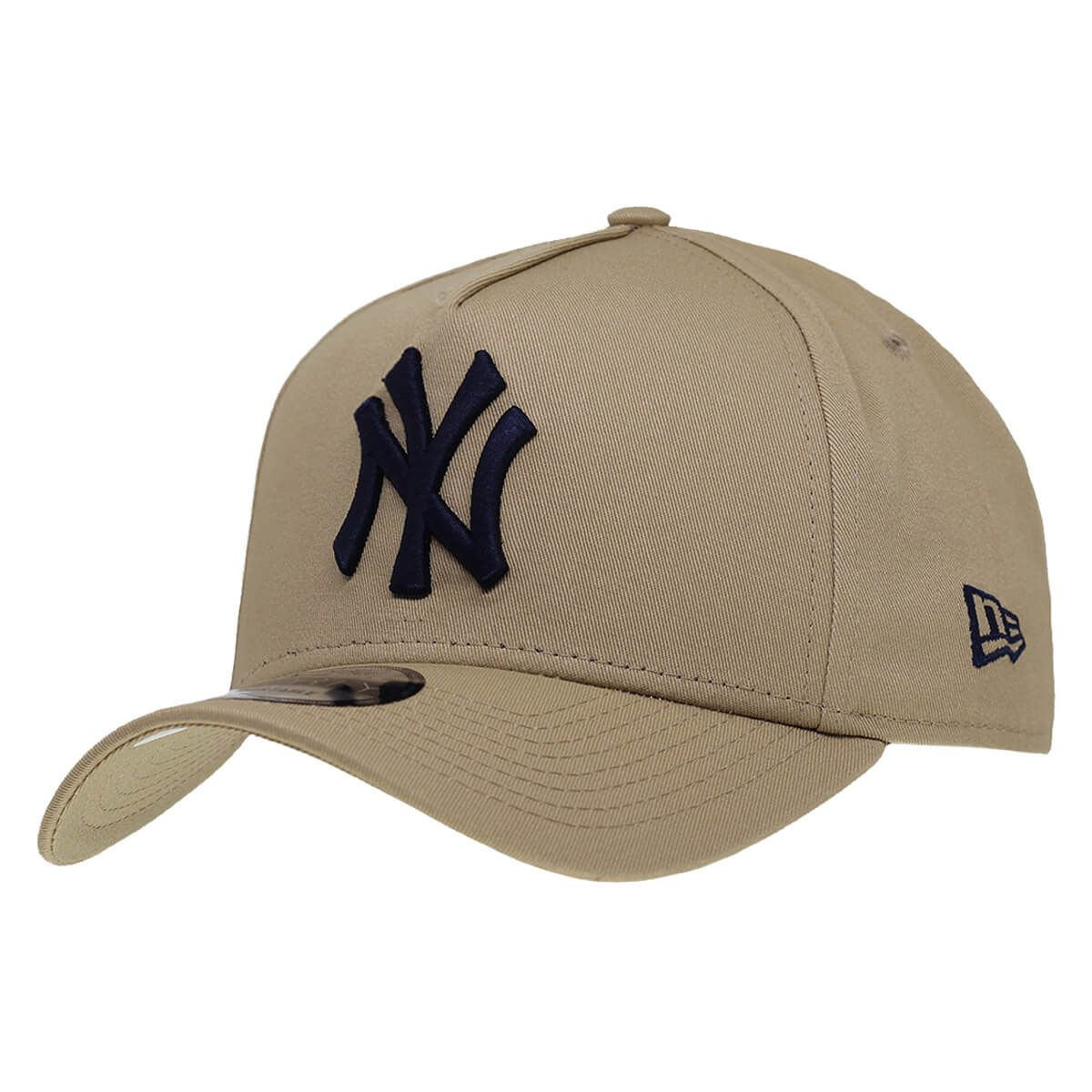 Boné New Era Aba Curva 940 SN MLB NY Yankees AF Bicolors Marrom Claro