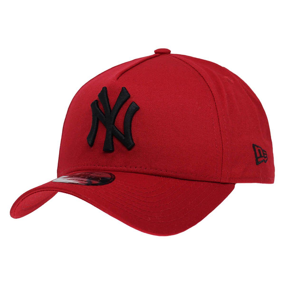 Boné New Era Aba Curva 940 SN MLB NY Yankees AF Bicolors Vermelho