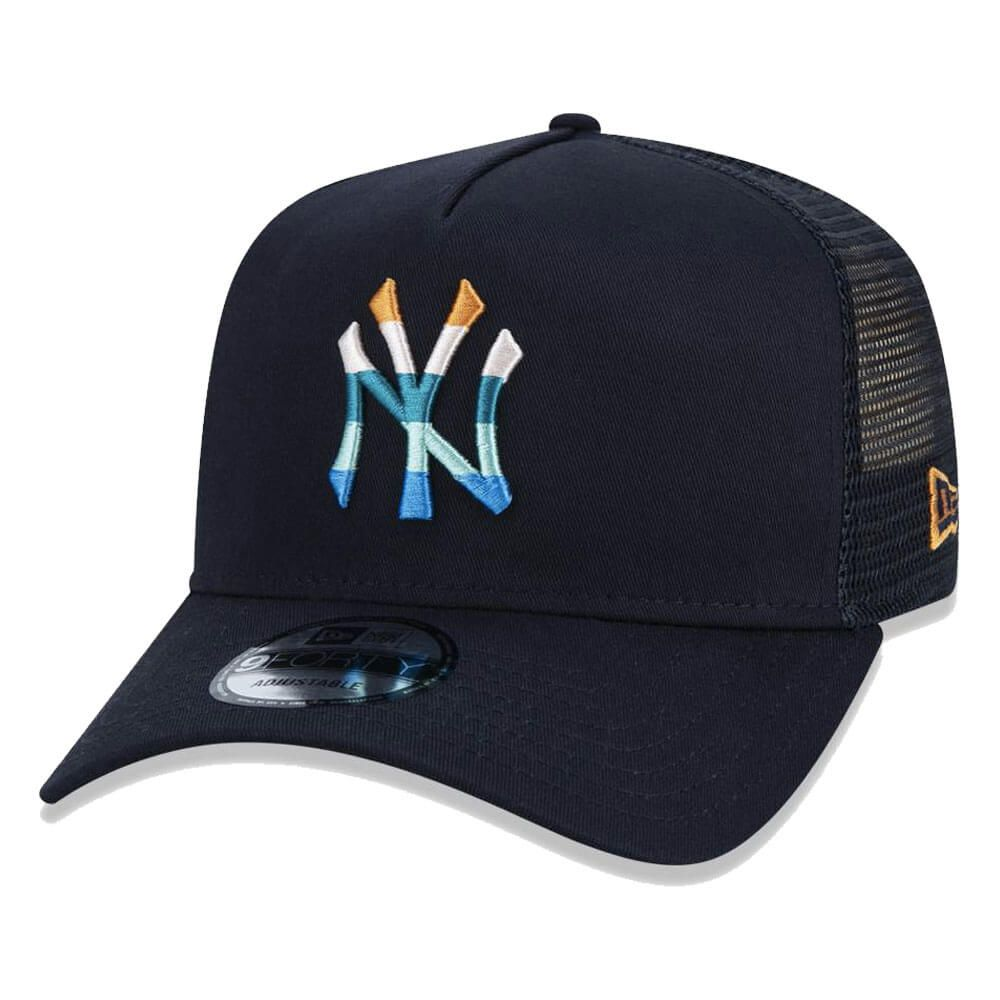 Boné New Era Aba Curva 940 SN MLB NY Yankees AF Trucker Multi Colors