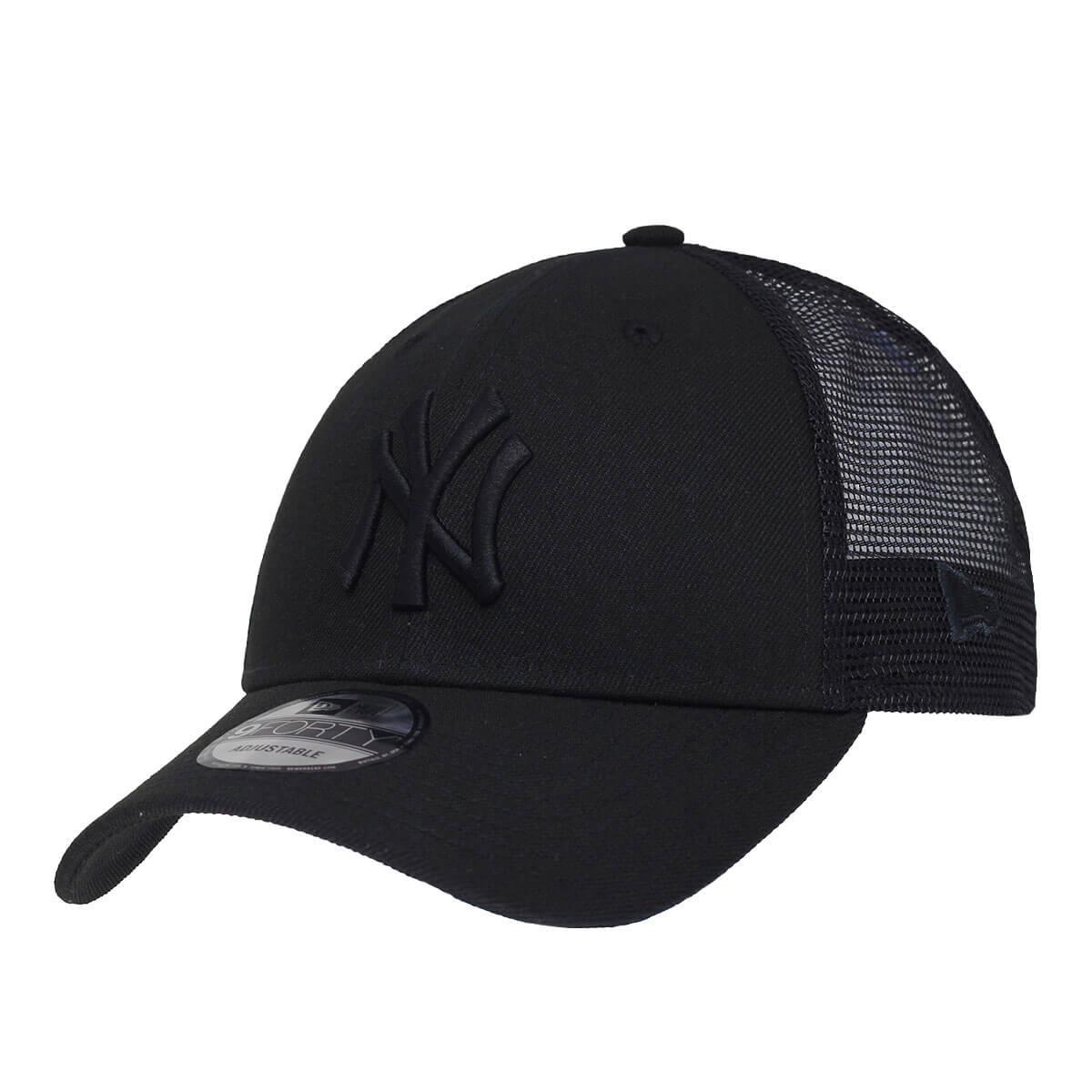 Boné New Era Aba Curva 940 SN MLB NY Yankees Blackout Trucker