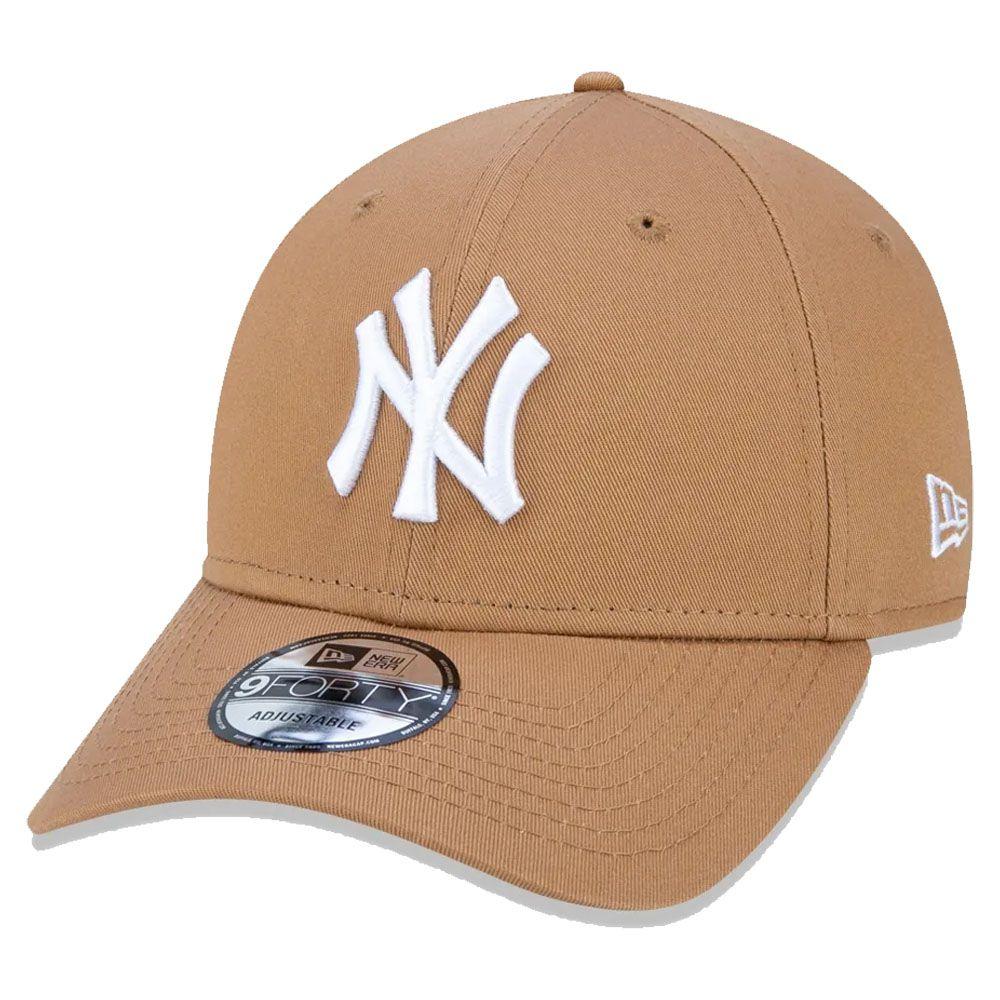 Boné New Era Aba Curva 940 SN MLB NY Yankees Colors Marrom Claro