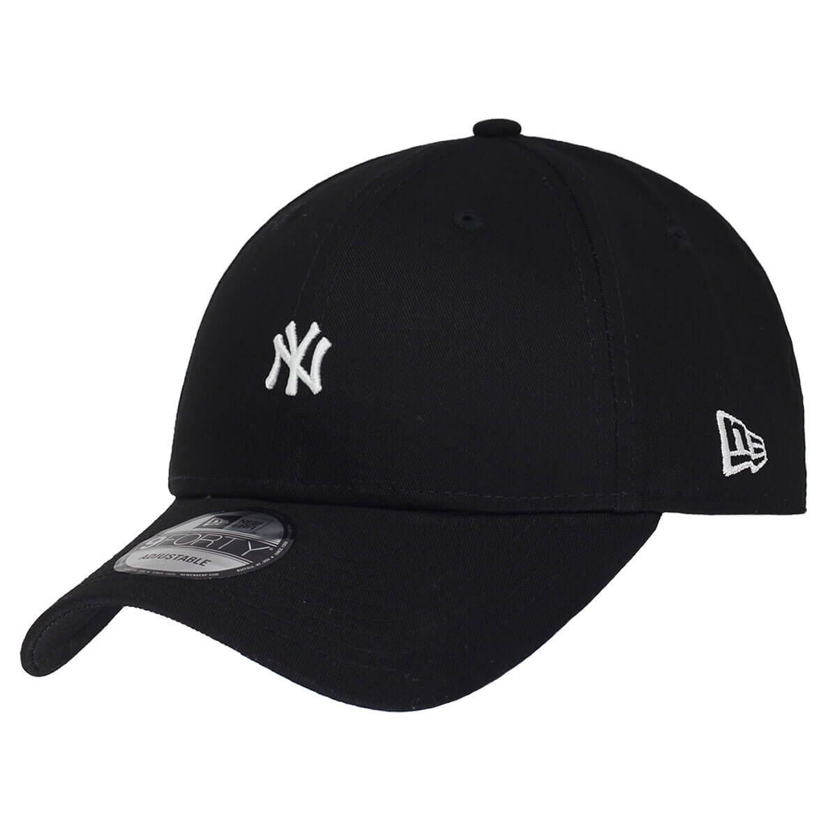 Boné New Era Aba Curva 940 SN MLB NY Yankees Mini Logo Preto Low
