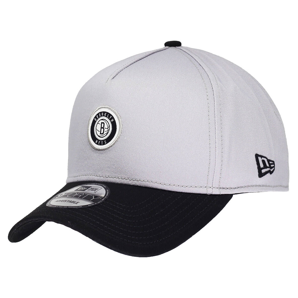 Boné New Era Aba Curva 940 SN NBA Brooklyn Nets AF Circle Logo