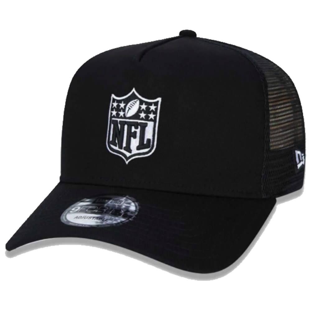 Boné New Era Aba Curva 940 SN NFL Flag Trucker Mini Preto