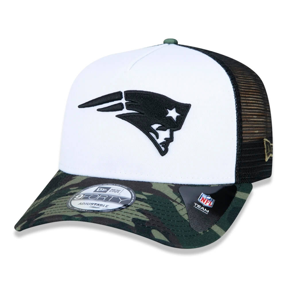 Boné New Era Aba Curva 940 SN NFL Patriots AF Trucker Military Full