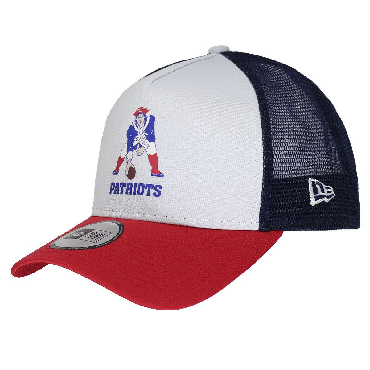 Boné New Era Aba Curva 940 SN NFL Patriots Trucker Throwback