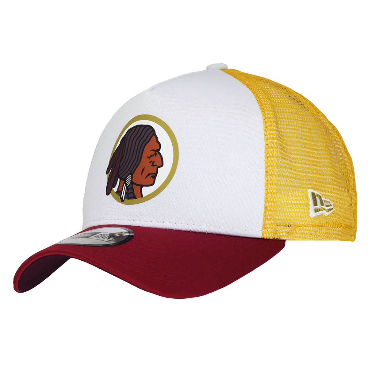 Boné New Era Aba Curva 940 SN NFL Redskins Trucker Throwback