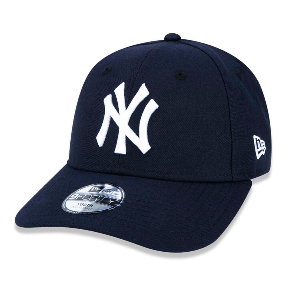 Boné New Era Aba Curva 940 ST MLB NY Yankees Colors Infantil Azul Escuro