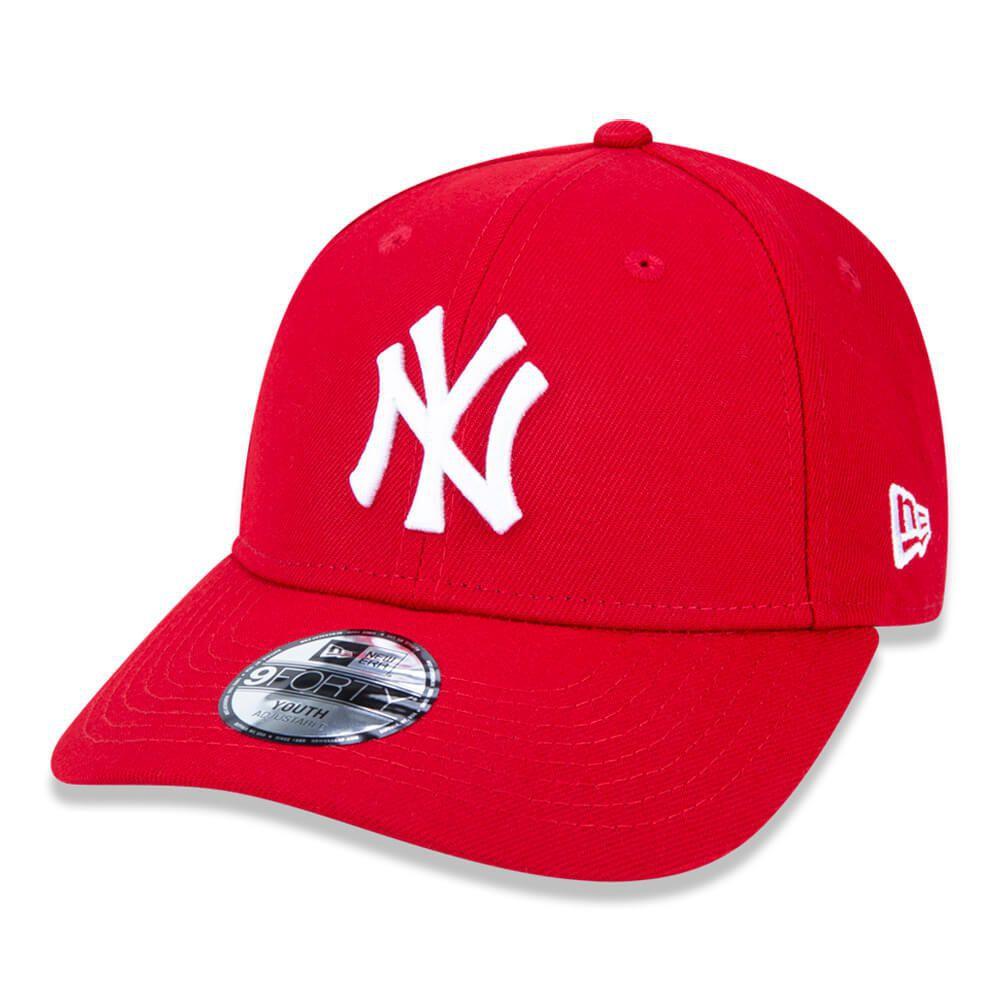 Boné New Era Aba Curva 940 ST MLB NY Yankees Colors Infantil Vermelho