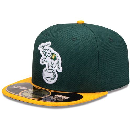 Boné New Era Aba Reta 5950 MLB Athletics Diamond Era