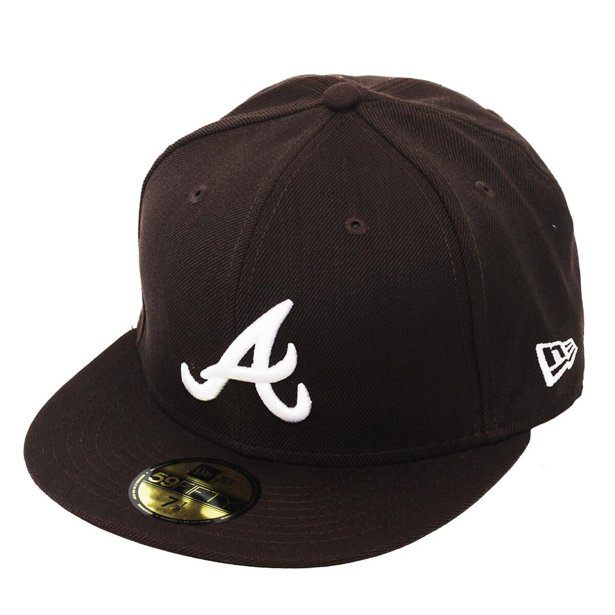 Boné New Era Aba Reta 5950 MLB Atlanta Basic Colors Marrom