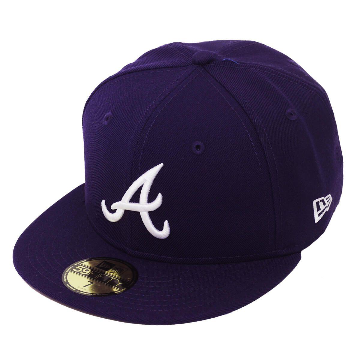 Boné New Era Aba Reta 5950 MLB Atlanta Basic Colors Roxo