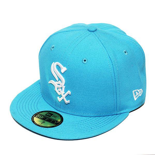 Boné New Era Aba Reta 5950 MLB Chicago Sox Basic Colors Azul Claro