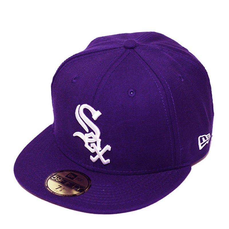 Boné New Era Aba Reta 5950 MLB Chicago Sox Basic Colors Roxo