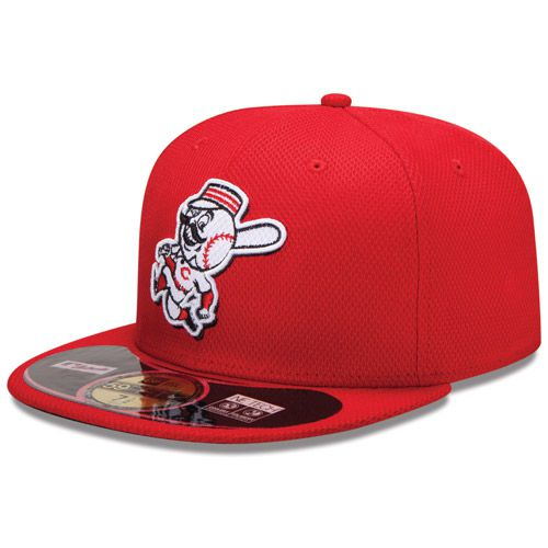 Boné New Era Aba Reta 5950 MLB Cincinnati Diamond Era Vermelho