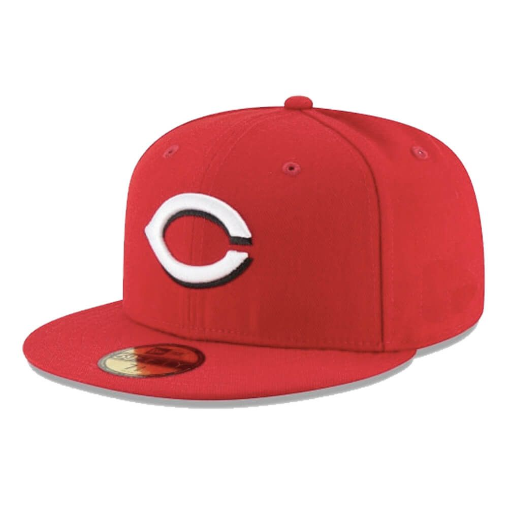 Boné New Era Aba Reta 5950 MLB Cincinnati On Field Home