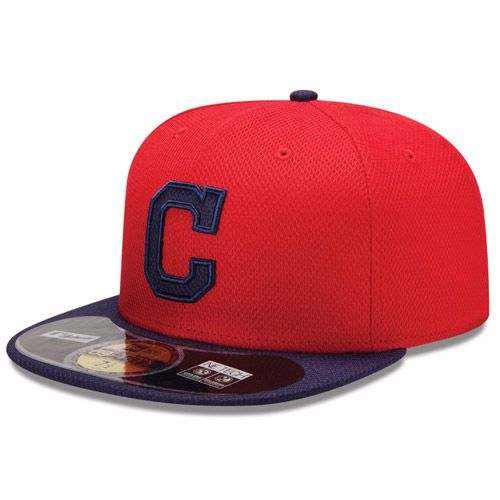 Boné New Era Aba Reta 5950 MLB Indians Diamond Era