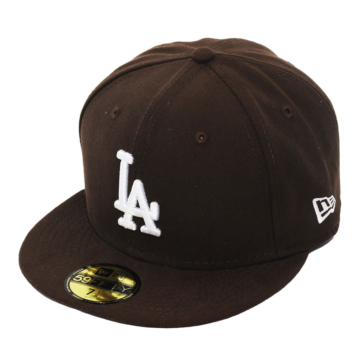 Boné New Era Aba Reta 5950 MLB Los Angeles Basic Colors Marrom