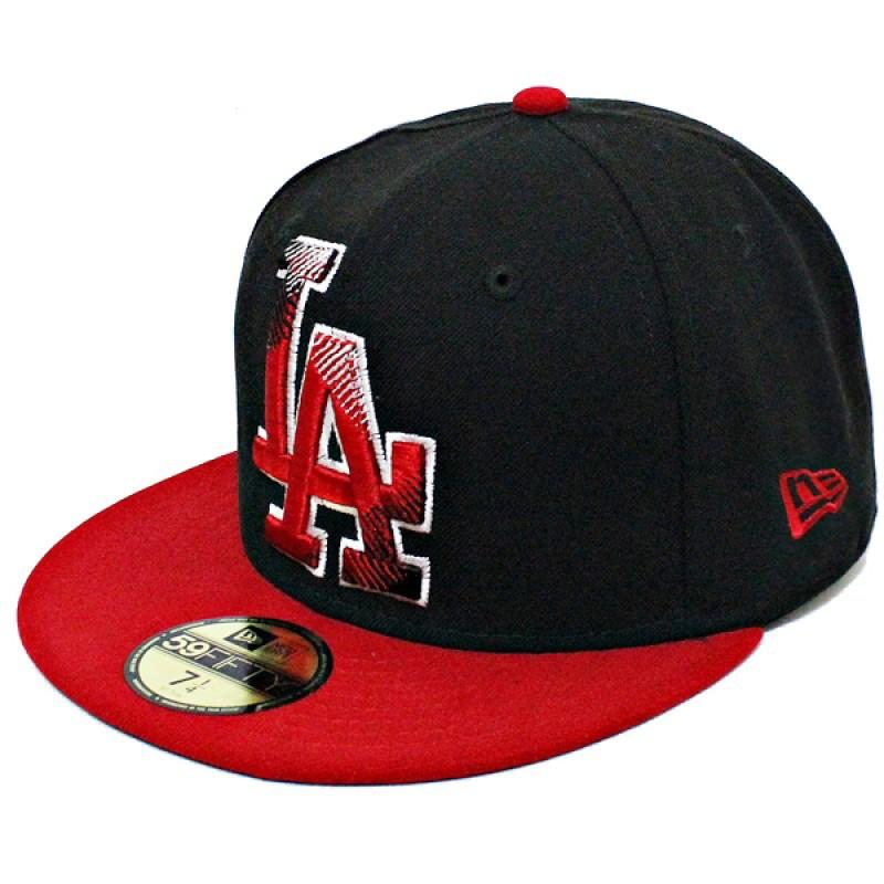 Boné New Era Aba Reta 5950 MLB Los Angeles Edge Preto