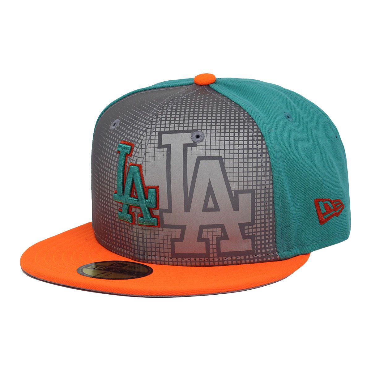 Boné New Era Aba Reta 5950 MLB Los Angeles Reflective Verde