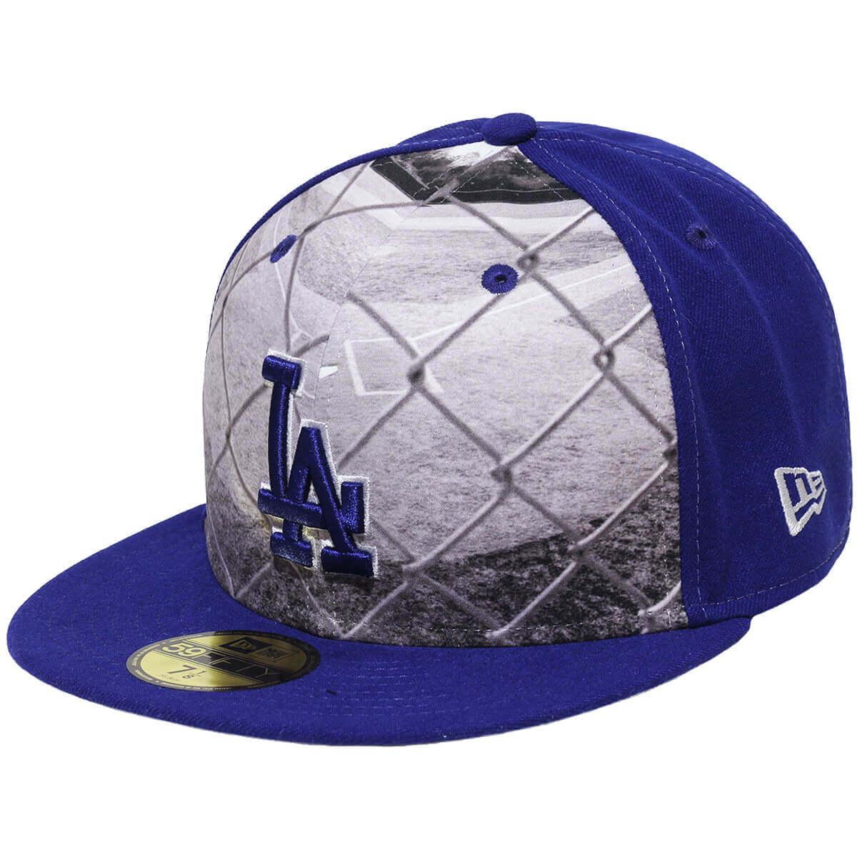 Boné New Era Aba Reta 5950 MLB Los Angeles Round Dway Azul
