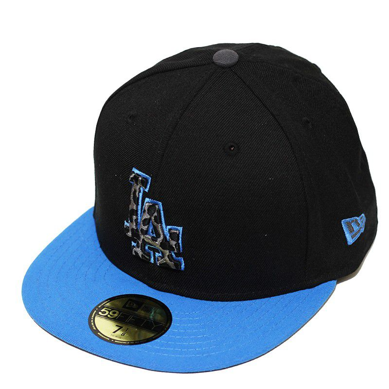 Boné New Era Aba Reta 5950 MLB Los Angeles Snapshot Preto