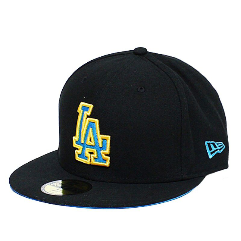 Boné New Era Aba Reta 5950 MLB Los Angeles Tracky Shy Preto
