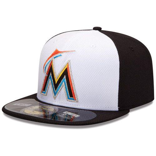 Boné New Era Aba Reta 5950 MLB Marlins Diamond Era Branco