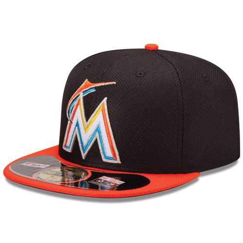 Boné New Era Aba Reta 5950 MLB Marlins Diamond Era Preto