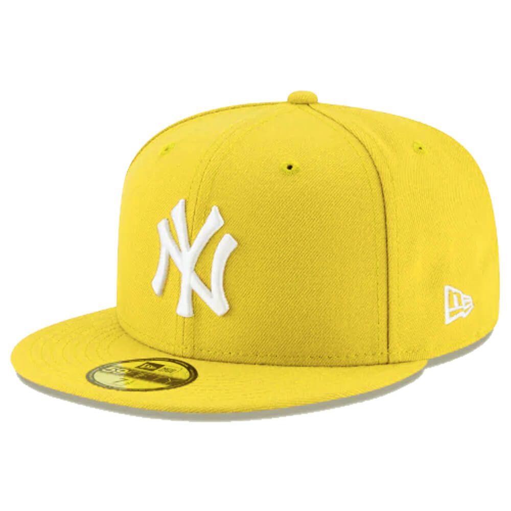 Boné New Era Aba Reta 5950 MLB NY Yankees Basic Colors Amarelo
