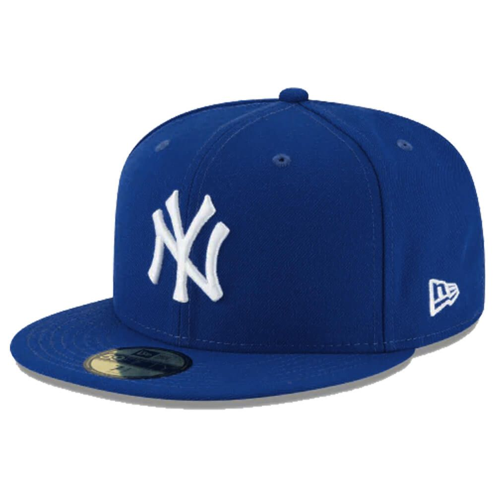 Boné New Era Aba Reta 5950 MLB NY Yankees Basic Colors Azul