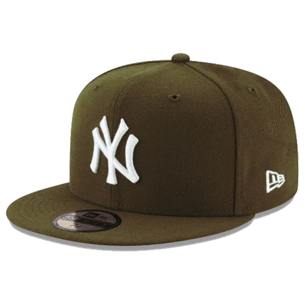 Boné New Era Aba Reta 5950 MLB NY Yankees Basic Colors Marrom