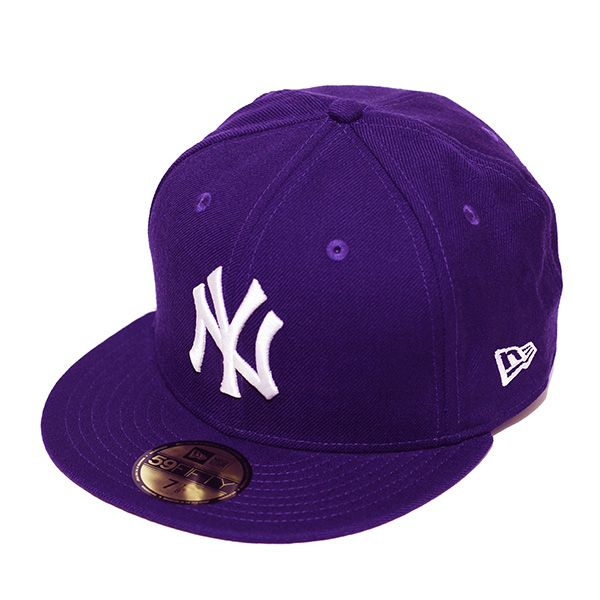 Boné New Era Aba Reta 5950 MLB NY Yankees Basic Colors Roxo