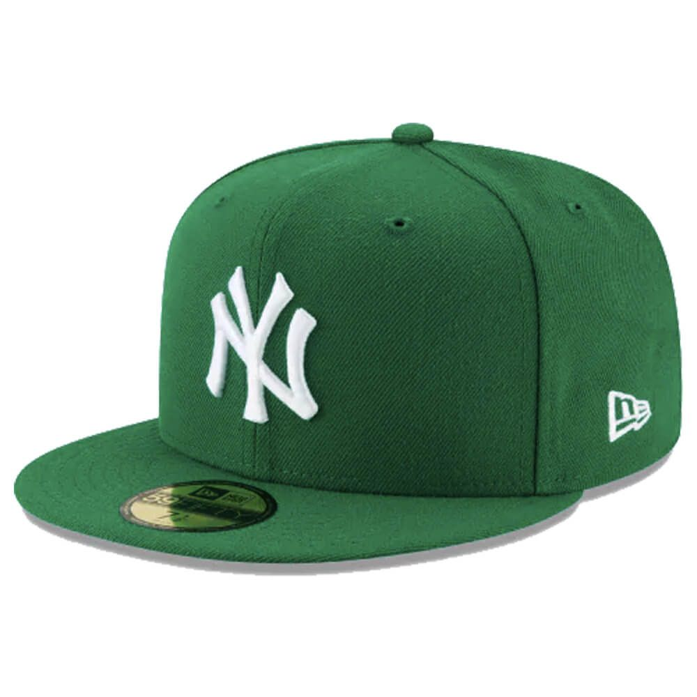 Boné New Era Aba Reta 5950 MLB NY Yankees Basic Colors Verde